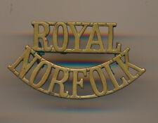 Royal Norfolk regiment shoulder title  C7