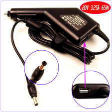 Laptop DC Adapter Car Charger+USB for Lenovo PA-1650-56LC ADP-65KH B 57Y6400