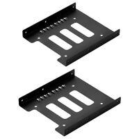 """2 x 2,5""""auf3,5""""SSD Festplatten Einbaurahmen Einbau Rahmen HDD Adapter Halterung"""