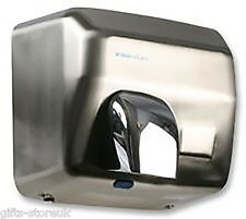 2.5KW CHROME BRUSHED STEEL Automatic HAND DRYER Wall Mounted - REVOLVING NOZZLE