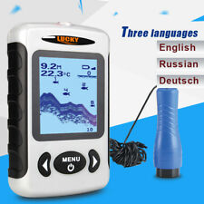 Portable Ice Fish Finder Dual Sonar Frequency Depth 100M Fishing Alarm assistant