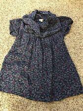 Odille Purple Navy Silk Blouse Shirt Top Size 2
