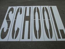 "96"" x 16"" School Parking Lot Stencils Individual D.O.T. Letters 1/16"" Ldpe"
