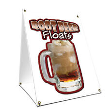 A-frame Sidewalk Sign Root Beer Float With Graphics On Each Side