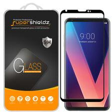 Supershieldz LG V30 Full Cover Tempered Glass Screen Protector (Black)
