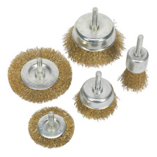 Sealey BWBS05 Wire Brush Set 5pc Brassed