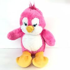 "Build A Bear Pinky Penguin Pink Plush 17"" Retired Yellow Feet Beak Fuzzy Hair"