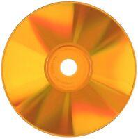 500-Pak Spin-X =Silver/ORANGE= 48X 80-Min CDR's, ORANGE Colored Record Surface