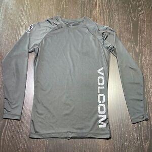 Volcom Stone Mens Medium T-Shirt Tee Rashguard Surfing Beach Long Sleeve Black