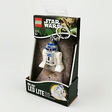 ~ Star Wars ~ Lego ~ R2-D2 ~ LED LITE ~ Keyring / Keychain ~ 2013 ~ Lucasfilm ~