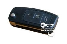 Usado Ford Mondeo Focus C-Max Galaxy 3 botón remoto Flip Llavero 3m5t-15k601-ac