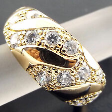 RING REAL 18K YELLOW G/F GOLD SOLID ANTIQUE DIAMOND SIMULATED DESIGN FS3A515