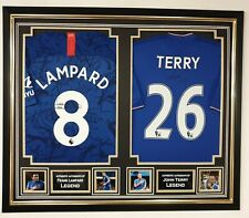 New John Terry and Frank  Lampard Signed Shirt Autographed Jersey Framed Display