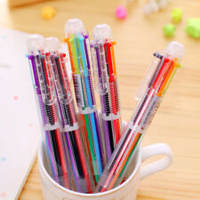 6in1 Color Ballpoint Pen Multi-color Ball Point Pens For School Office Supply hs