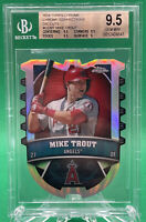 2014 TOPPS CHROME CONNECTIONS DIE CUTS #CCMT MIKE TROUT BGS 9.5 🏦 RARE
