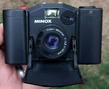 New ListingVtg Minox 35El Compact 35mm Camera with Leather Case, Manual, & Serial No (1977)