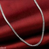 """FINE PT950 Platinum 950 Necklace Curb Chain Necklace Pt950 4.5-5g - 17"""" L"""