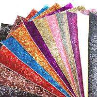 Self-adhesive Chunky Glitter Vinyl Fabric Leather Wallpaper Decor Sheets Craft