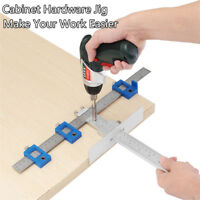 Drill Guide Sleeve Cabinet Hardware Jig Drawer Pull Wood mm/inch Dowelling Set