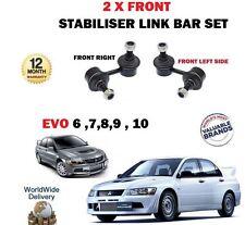 FOR MITSUBISHI EVO 6 7 8 9 10 2.0 1999-> 2 X FRONT STABILISER LINK BAR SET