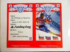 1993 BUDWEISER MOGUL TOUR SUNDAY RIVER RESORT MAINE PAPER SIGN