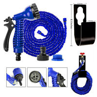 50FT-200FT Garden Hose Pipe Expanding Expandable Elastic With Spray Gun Blue