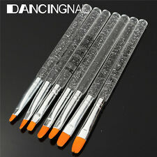 7Pcs UV Gel Acrylic Crystal Nail Art Tip Design Builder Salon Painting Brush Pen