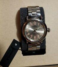 Shinola THE RUNWELL 36mm Watch, Champagne Face Silver Bracelet  (01)