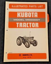 GENUINE KUBOTA M5500 M5500DT TRACTOR PARTS CATALOG MANUAL VERY GOOD SHAPE