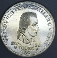 Germany 1955 f 5 mark gem bu stunning color and eye appeal 150 Todestag Friedric