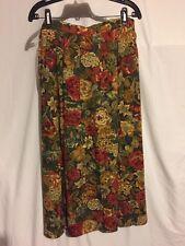 Women's Plus Size 22W CRICKET LANE Multi-Color Floral Skirt W Elastic Back Waist