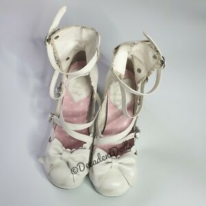 Secret Shop Cosplay Anime Manga Maid Gothic Sweet Lolita Kawaii white shoes