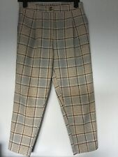 New Look Ladies PETITE Brown Check Trousers size 12