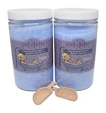 Aromatherapy Epsom Salt Bath Salts 2 Pack with Wooden Scoop (Lavender)