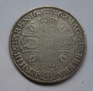 Charles II 1662 crown 1st bust with rose under bust