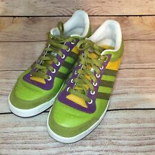 Adidas Originals Top Ten Bright Green Yellow Purple Lace Up Sneakers Men's Sz 9