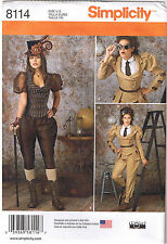 Steampunk Jacket Jodhpur Pants Knickers Costume Sewing Pattern 14 16 18 20 22