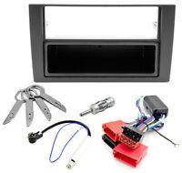 Radio Blende Adapter Kabel Set Aktivsystem ISO für Audi A6 4B C5 Phantomspeisung