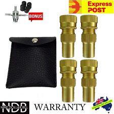 Tyre Deflators 4x Brass 6 - 60 PSI 4WD Tire Deflator Pressure Auto FASTPOST