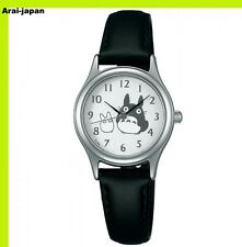 SEIKO ALBA Wrist watch ACCK402 Black Tonarino Totoro Quartz Lady's Hardlex Japan