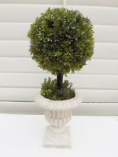 Artificial French Topiary ball stemmed  potted in antique effect urn new
