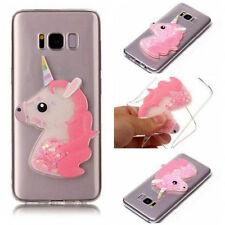 3D Dynamic Liquid  Unicorn Transparent Tpu Case Cover For Various Mobile phones