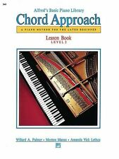 Alfred's Basic Piano Library Chord Approach Lesson Book Level 2 *NEW* Music