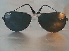 Ray Ban RB3026 62MM Aviator Unisex Sunglasses Black Frame/Black Gradient Lens