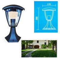 Lampada Da Giardino V-Tac Lampione Nera Esterno Illuminazione Lanterna E27 361