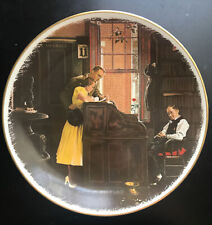 """1976 Norman Rockwell """"The Marriage License"""" Gorham Collector Plate"""