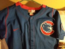 CHICAGO CUBS JERSEY - YOUTH MEDIUM - THROWBACK - NIKE - NWT