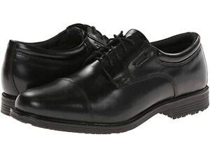 Rockport Men's Waterproof Lead The Pack Cap-Toe Oxford   Size: 14   Black