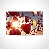 Gold Geschenkkarte / Geschenkidee / 1 Gr. Barren / Hochzeitstag, Liebe, Herzen