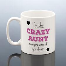 CRAZY AUNT MUG Auntie Birthday Mug Aunt Birthday Gift Aunty Cup Best Auntie Gift